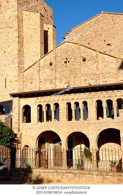 Romanesque monastery of La Porta Ferrada in Sant Feliu de Guixols, Costa Brava, Girona province,Spain