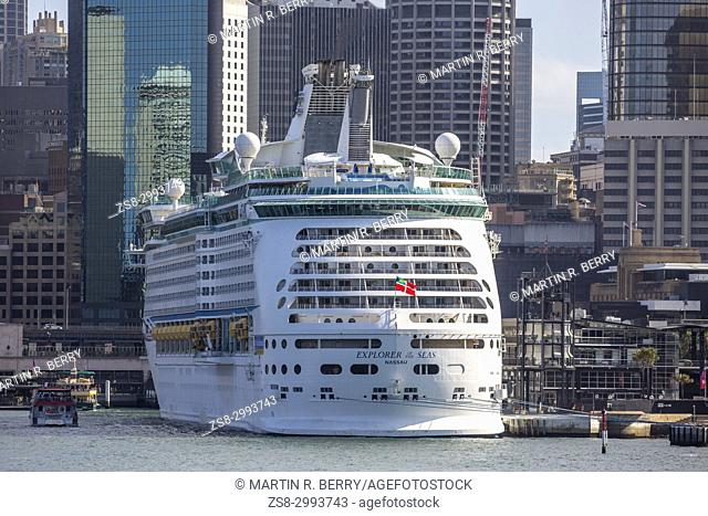 Royal Caribbean MS Explorer of the Seas Cruise Ship in Sydney Circualr Quay,Australia