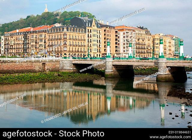 Bridge of Zurriola, San Sebastian, Spain