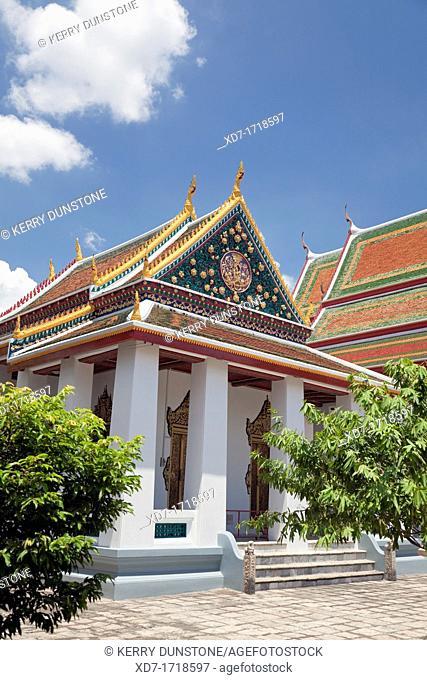 Ubosot Ordination Hall, Wat Buppha Ram, Bangkok Yai, Bangkok, Thailand
