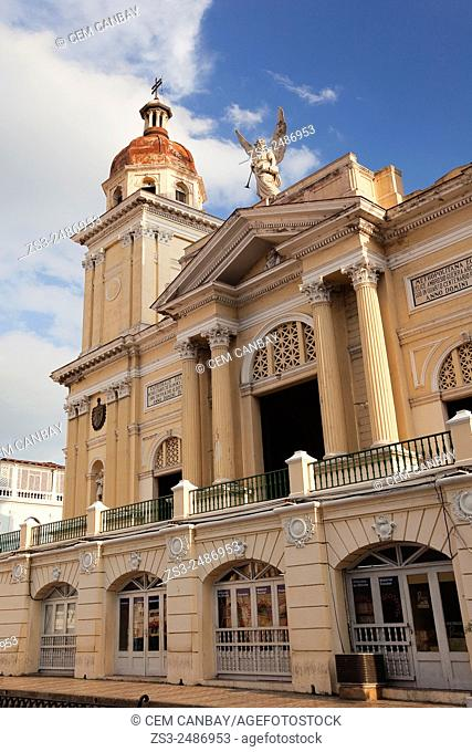 Cathedral of Santiago de Cuba, Parque Cespedes park, Santiago de Cuba, Cuba, Caribbean Coast, Central America