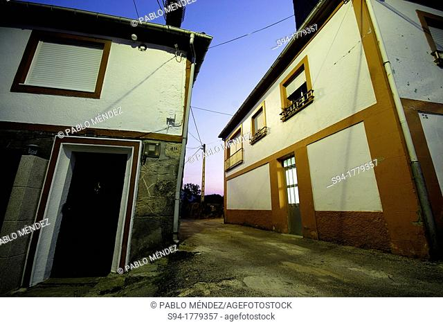 Street in Mouruas, Orense, Spain