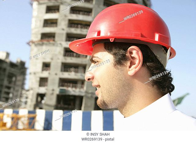 Arab Men on the construction site