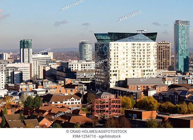 The Cube building on the Birmingham skyline, West Midlands, England, UK