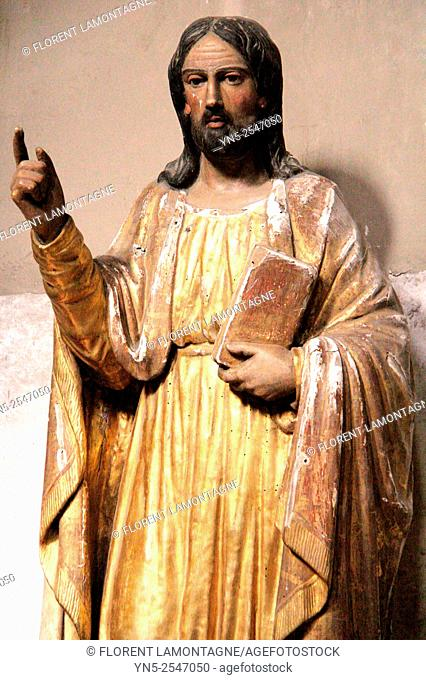 Statue of Saint-Philippe, church of La Madeleine, Albi, Tarn, France