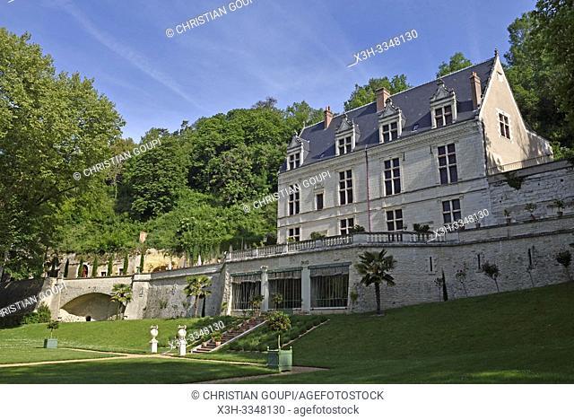 Royal Domain of Chateau-Gaillard at Amboise, Touraine, department of Indre-et-Loire, Centre-Val de Loire region, France, Europe
