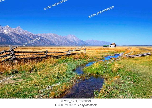 Old barns in Grand Tetons