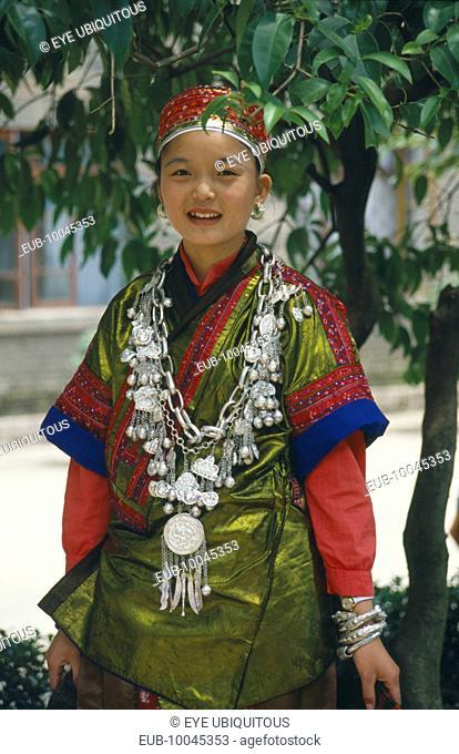 Miao girl in festival dress