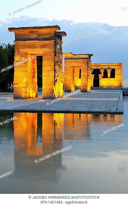 Debod temple.Madrid.Spain