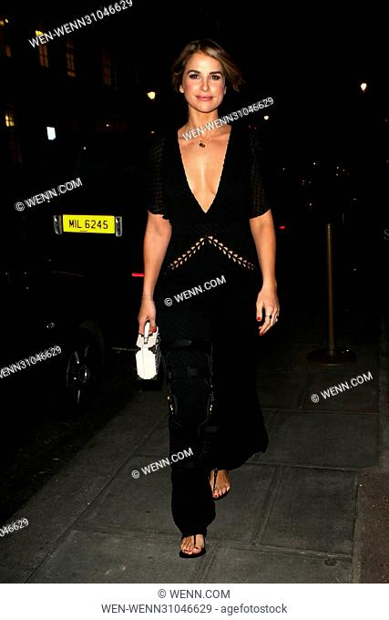 Celebrities attend gay rights activist Philip Christopher Baldwin's LBGT History Month Dinner at Smith & Wollensky Featuring: Vogue Williams Where: London