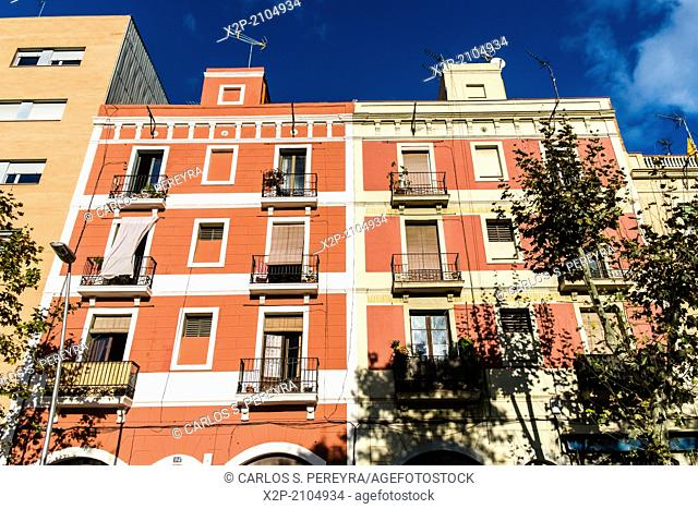 Buildings at Poblenou, Barcelona, Catalonia, Spain