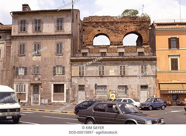 Italy, Rome, Forum Boarium, four-sided Arch of Janus