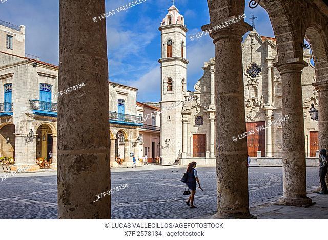 Catedral de La Habana, San Cristobal Cathedral, Plaza de la Catedral,Old Havana, Habana Vieja, La Habana, Cuba