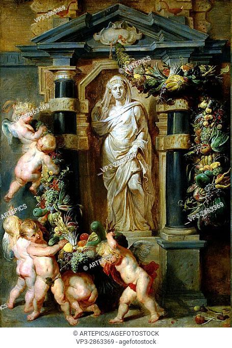 Peter- Paul Rubens. Statue of Ceres. 1615. Hermitage Museum - Saint Petersburg