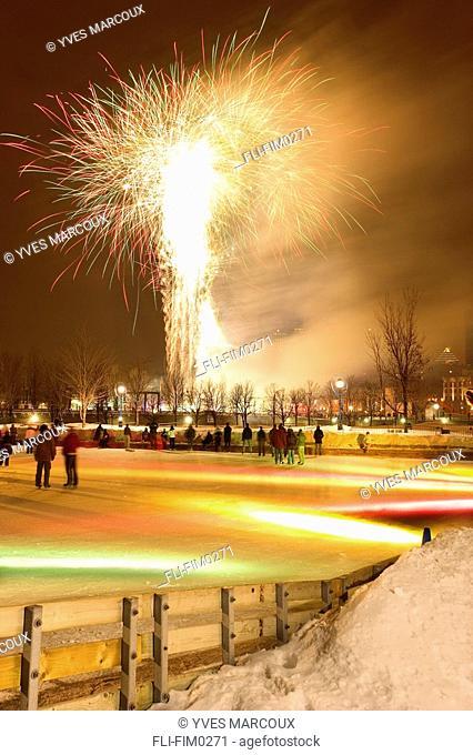 Fireworks at The Montreal High Lights Festival, Quebec