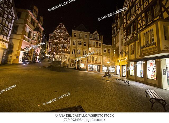 Bernkastel-Kues - town in Rhineland-Palatinate region of Germany Nightscape