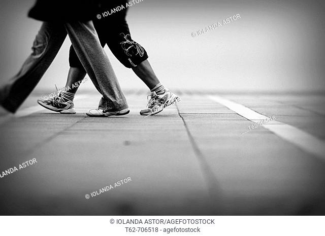 Pair of walkers. White and black