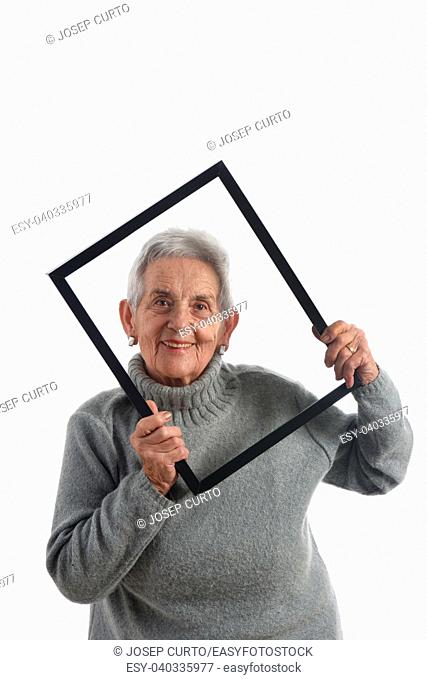looking through an empty frame