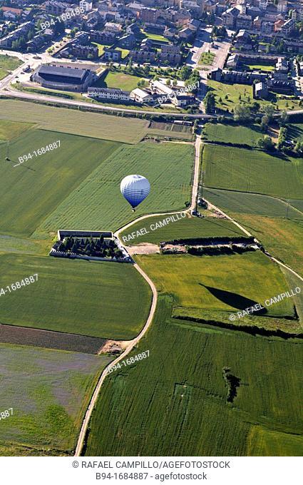 Balloon, Cerdanya area, Girona province, Catalonia, Spain