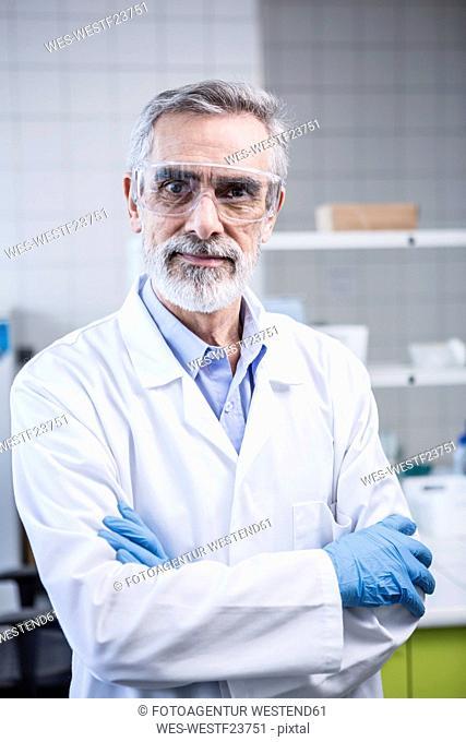 Portrait of confident scientist in lab