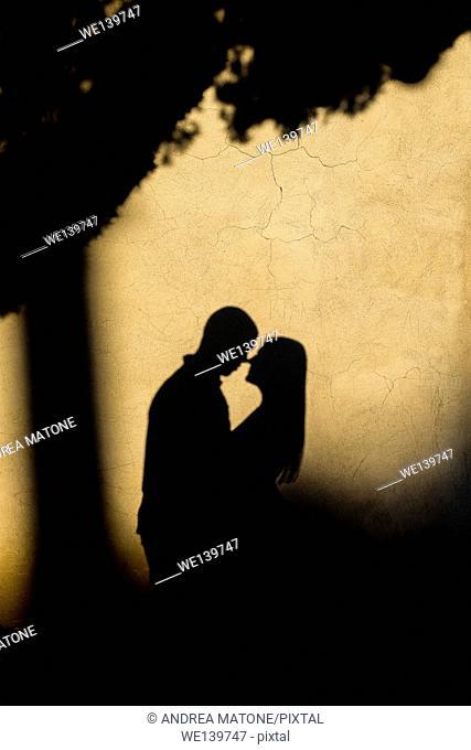 Shadows kiss. Rome. Italy
