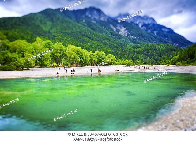 Lake Jasna. Triglav National Park. Upper Carniola region. Slovenia, Europe