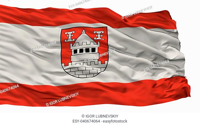 Isselburg City Flag, Country Germany, Isolated On White Background