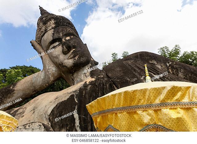 November 23 2016 Vientiane, Laos Religious statues at Wat Xieng Khuan Buddha park