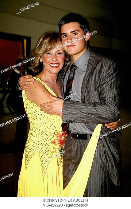 Margarethe Schreinemakers and her 16 year old son Lukas Klumpe at the second show of Let's Dance.  - Cologne, Germany, 21/05/2007