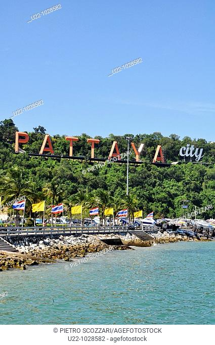 Pattaya (Thailand), the bay and the logo of the city