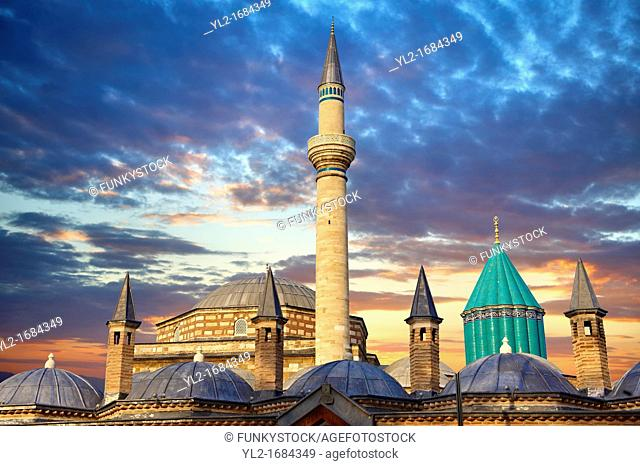 The Mevlâna museum, the mausoleum of Jalal ad-Din Muhammad Rumi, a Sufi mystic also known as Mevlâna or Rumi  It was also the dervish lodge tekke of the Mevlevi...