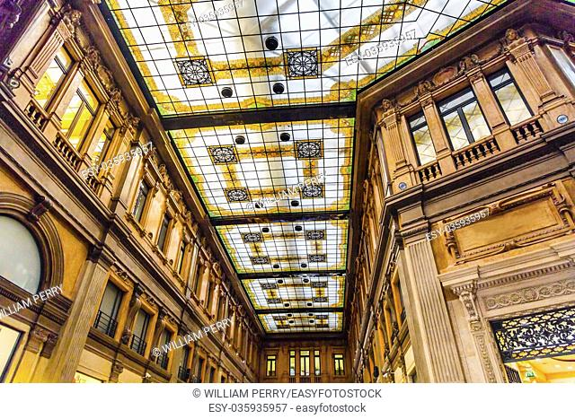 Galleria Alberto Sordi Old Shopping Mall Rome Italy. Shopping mall designed in the early 1900s and opened in 1922