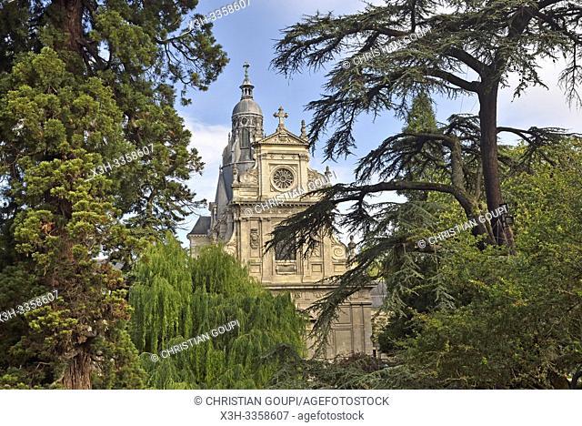 eglise Saint-Vincent-de-Paul, ancienne chapelle du college jesuite de Blois, departement Loir-et-Cher, region Centre-Val de Loire, France