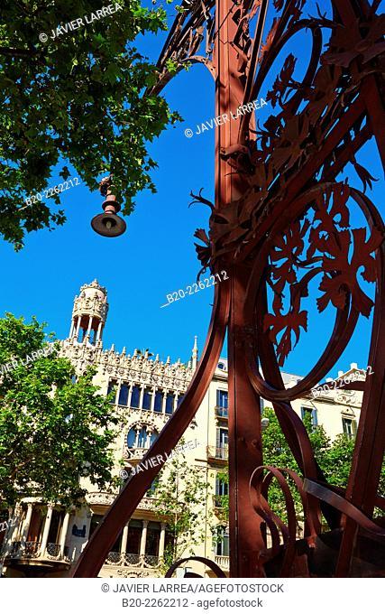 Casa Lleó Morera (1902-1906) by Lluís Domènech i Montaner. Passeig de Gracia. Barcelona. Catalonia. Spain