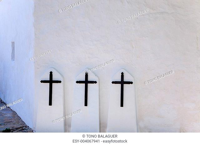 Ibiza Santa Agnes de Corona Ines white church