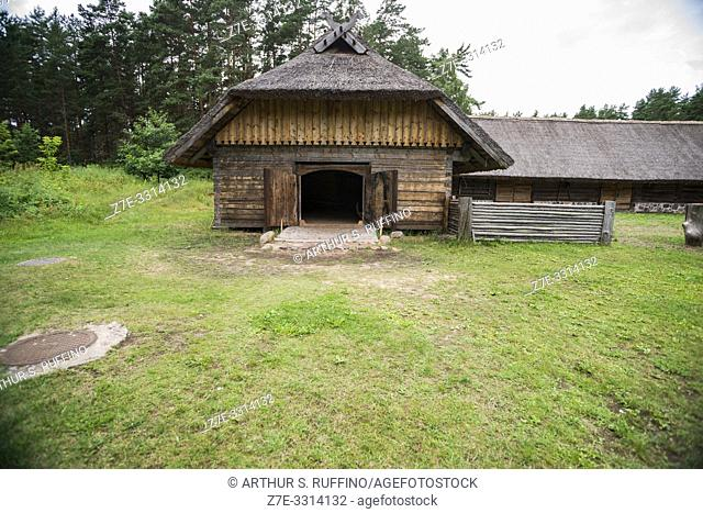 Traditional architecture of the provinces. Latvian Ethnographic Open-Air Museum. Riga, Latvia, Baltic States, Europe