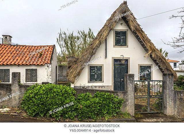 typical Santana houses, Madeira, Portugal, Europe