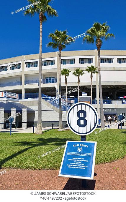 Exterior view of George M  Steinbrenner Field spring training baseball stadium of the New York Yankees and home of Tampa Yankees in Tampa Florida