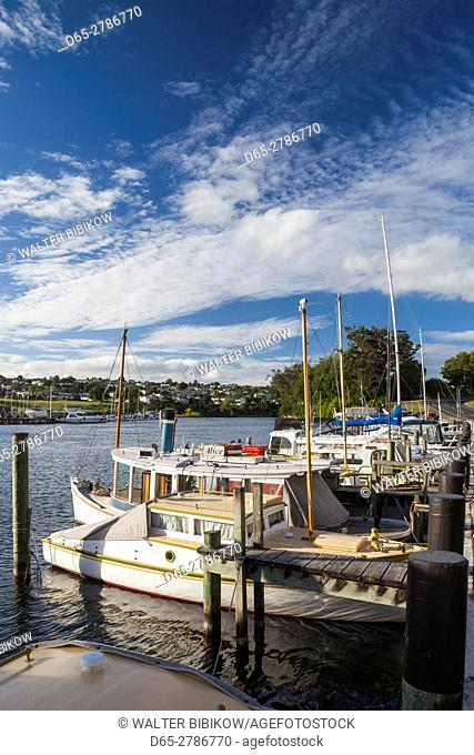 New Zealand, North Island, Taupo, Lake Taupo Marina