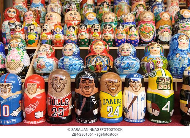 Flea market at Andrew's Descent, Kiev, Ukraine, Eastern Europe