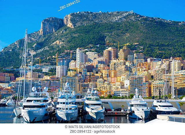 Port and Cityscape in Monte Carlo in Provence-Alpes-Côte d'Azur, Monaco