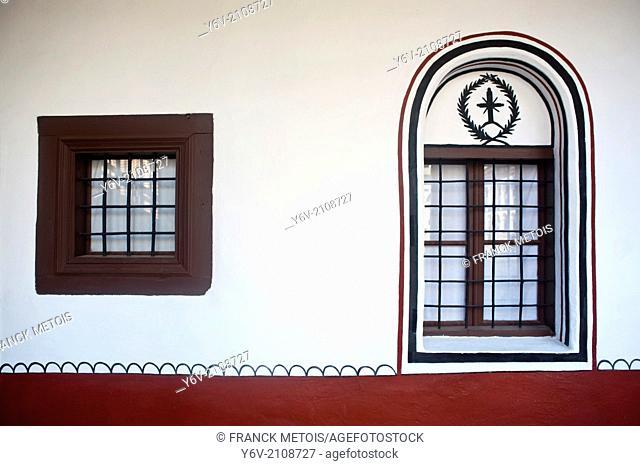 Windows in the Rila monastery ( Bulgaria)