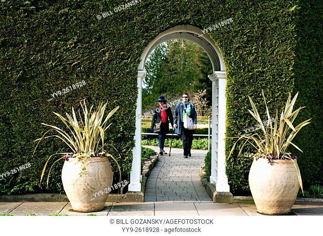 Italian Garden at Butchart Gardens, near Victoria, Vancouver Island, British Columbia, Canada