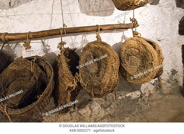 Traditional farm life is shown in the Museum in Bubion, Alpujarras, Spain