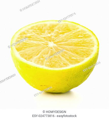 Fresh green lime isolated on white background