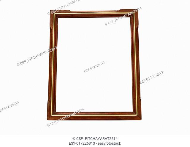 Wood and Gold vintage frame