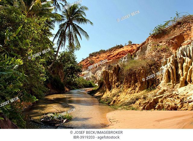 Red River Canyon, sandstone, river bed, near Mui Ne, South Vietnam, Vietnam