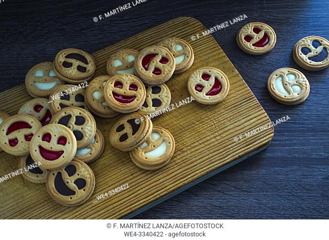 Cookies with face shape