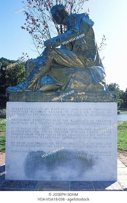 Statue of Thomas Paine, author of Common Sense, Morristown, New Jersey