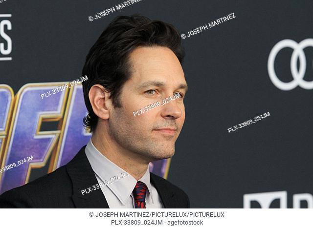 """Paul Rudd at The World Premiere of Marvel Studios' """"""""Avengers: Endgame"""""""" held at the Los Angeles Convention Center, Los Angeles, CA, April 22, 2019"""